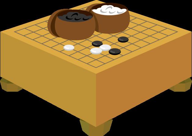 1月5日囲碁の日のイラスト-碁石と碁盤