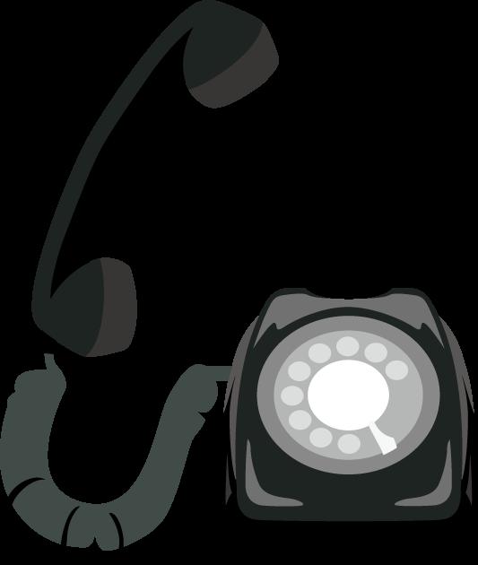 1月10日110番の日のイラスト-ダイヤル電話