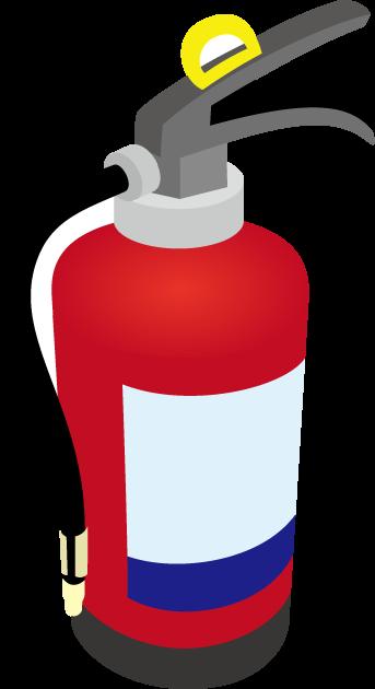1月19日家庭用消火器点検の日のイラスト-消火器