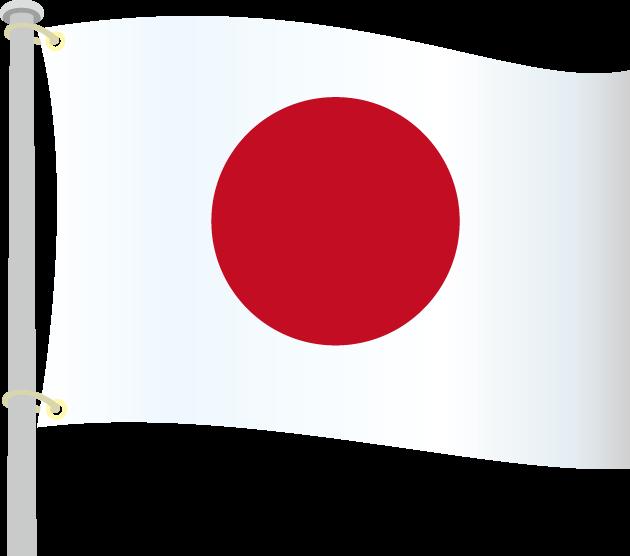 1月27日国旗制定記念日のイラスト-日の丸国旗