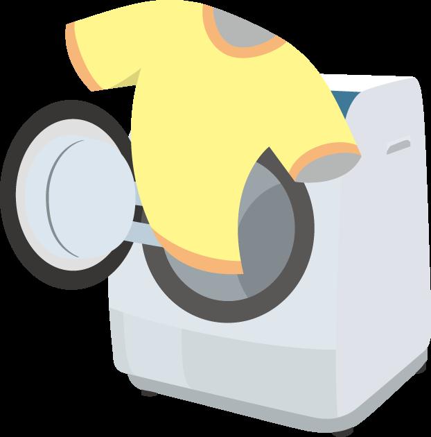 1月28日衣類乾燥機の日のイラスト-洗濯乾燥機