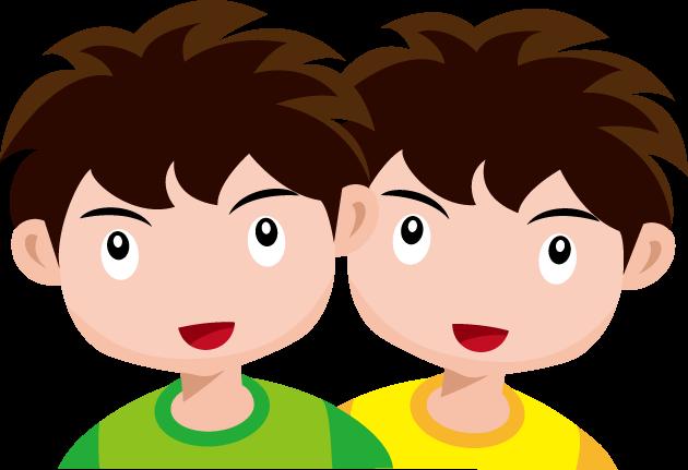 2月5日ふたごの日のイラスト-双子の男の子
