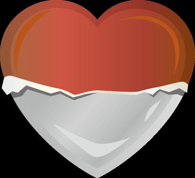 2月14日バレンタインデーのイラスト-ハート型チョコレート