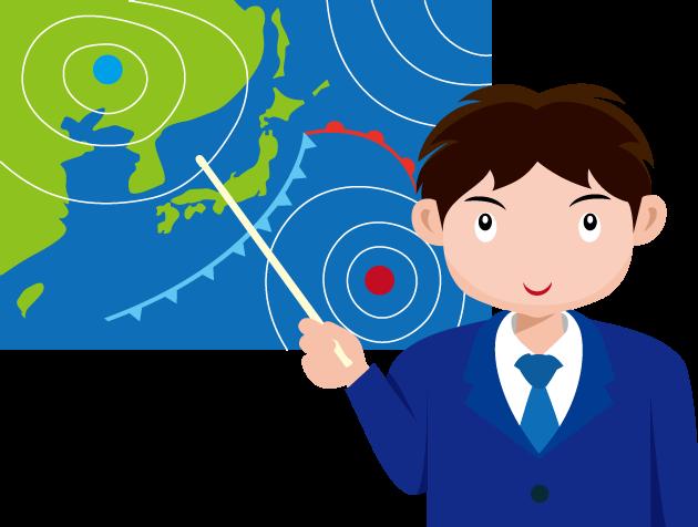 2月16日天気図記念日のイラスト-天気予報