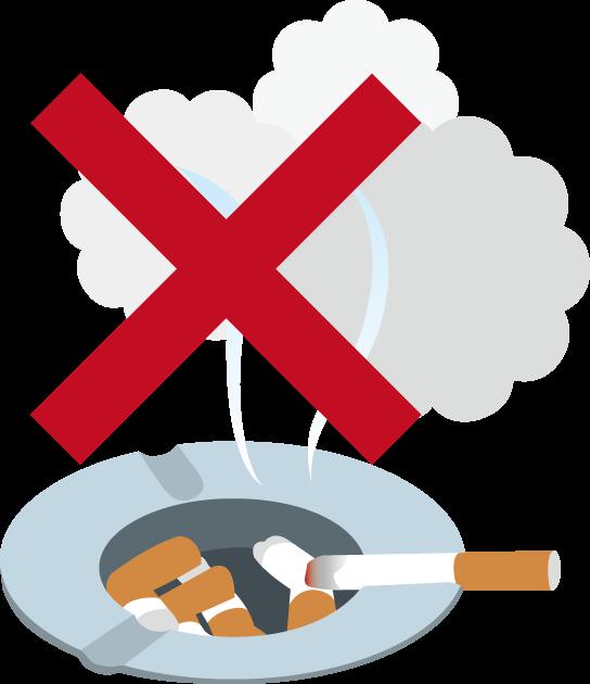 2月18日嫌煙運動の日のイラスト-煙草と灰皿