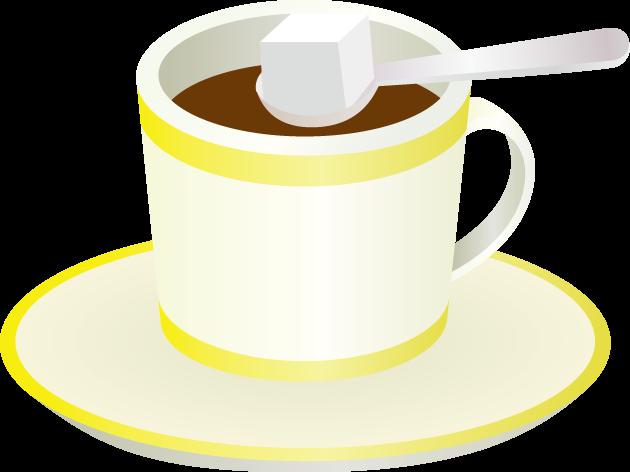 3月10日砂糖の日のイラスト-コーヒーと角砂糖