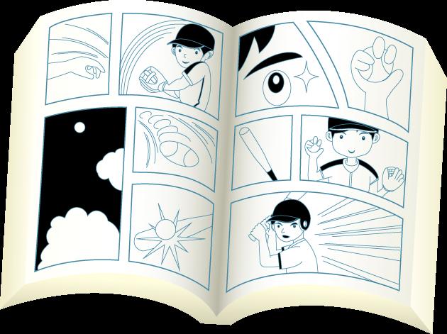 漫画週刊誌の日のイラスト