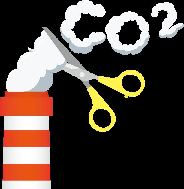 4月2日CO2削減の日のイラスト-煙突と煙