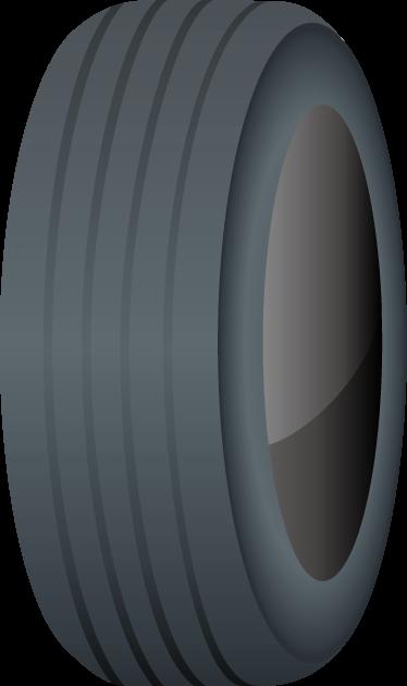4月8日タイヤの日のイラスト-タイヤ