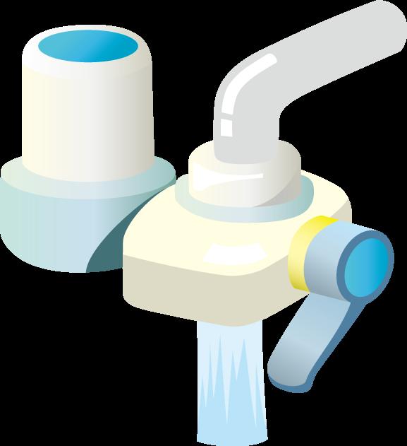 4月13日浄水器の日のイラスト-浄水器