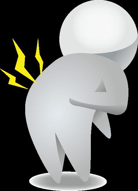 4月20日腰痛ゼロの日のイラスト-腰痛