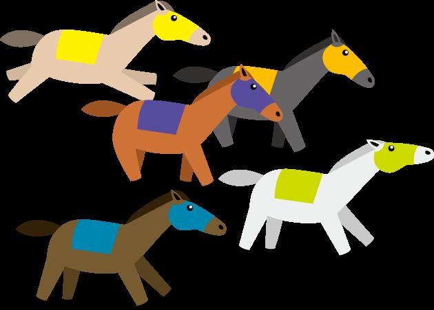 4月24日日本ダービー記念日のイラスト-ダービー馬
