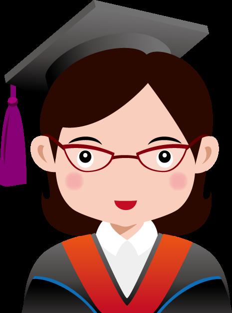 5月7日博士の日のイラスト-女性博士