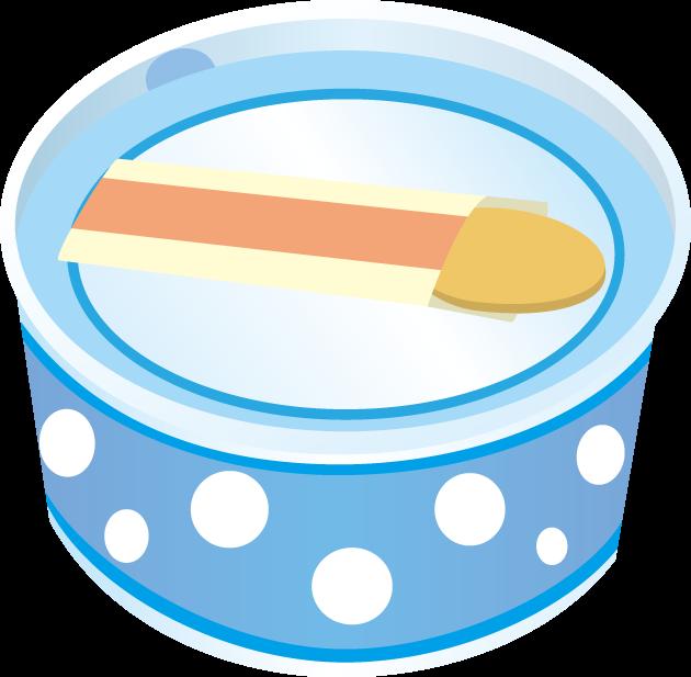 5月9日アイスクリームのイラスト-アイスクリームとスプーン