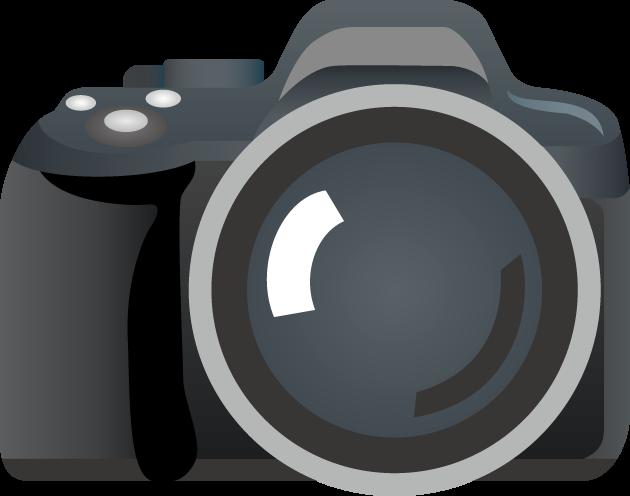 6月1日写真の日のイラスト-一眼レフカメラ