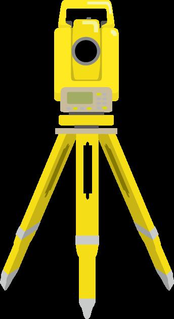 6月3日測量の日のイラスト-測量機器
