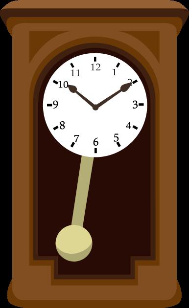 6月10日時の記念日のイラスト-振り子時計
