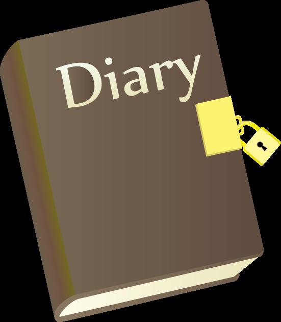 6月12日アンネの日記の日のイラスト-鍵付きの日記帳