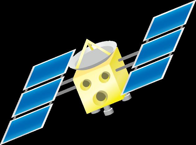 6月13日ハヤブサの日のイラスト-人工衛星