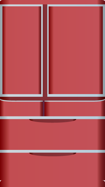 6月21日冷蔵庫の日のイラスト-冷蔵庫