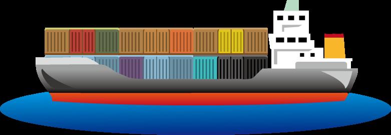 6月28日貿易記念日のイラスト-コンテナ船