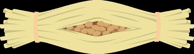 7月10日納豆の日のイラスト-藁納豆