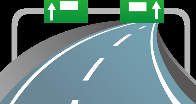 7月16日国土交通DAYのイラスト-高速道路