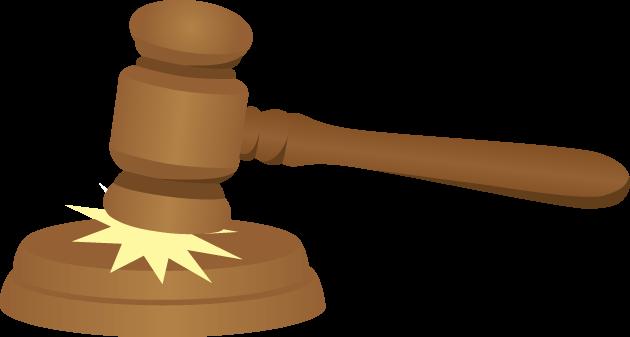 7月17日世界司法の日のイラスト-木槌