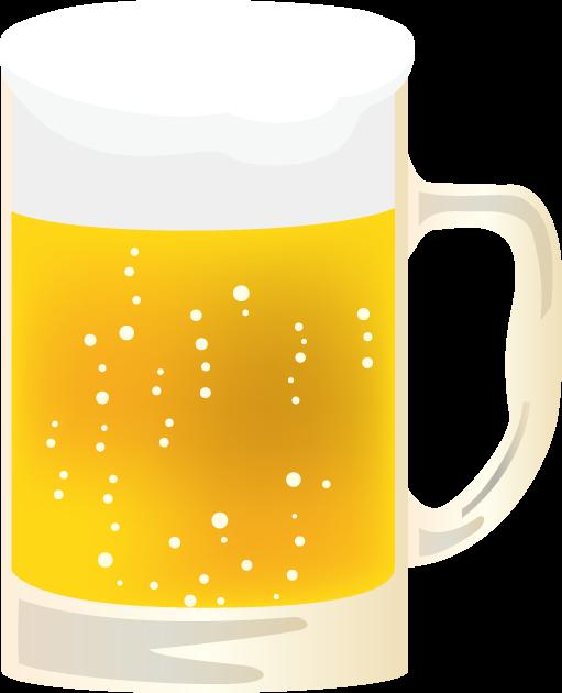 8月5日世界ビールデーのイラスト-ビールジョッキ