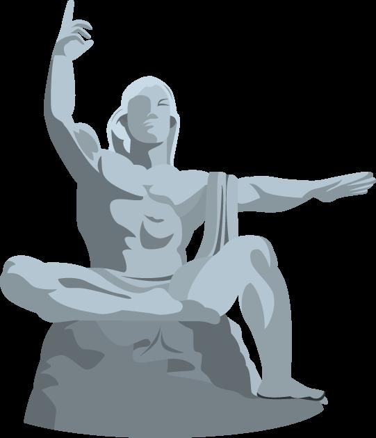 8月9日長崎平和の日のイラスト-長崎平和の像