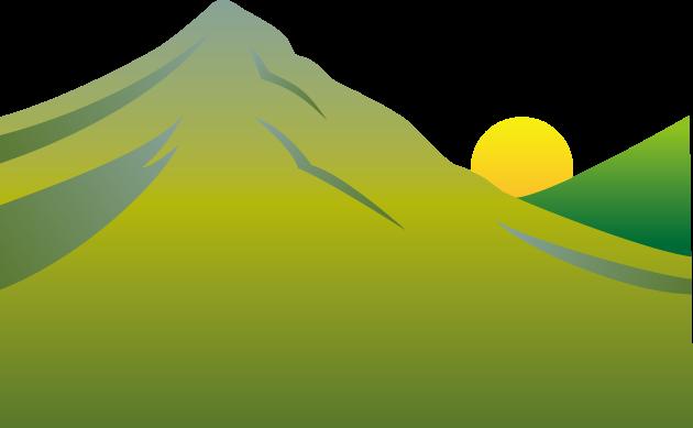 8月11日山の日のイラスト-山