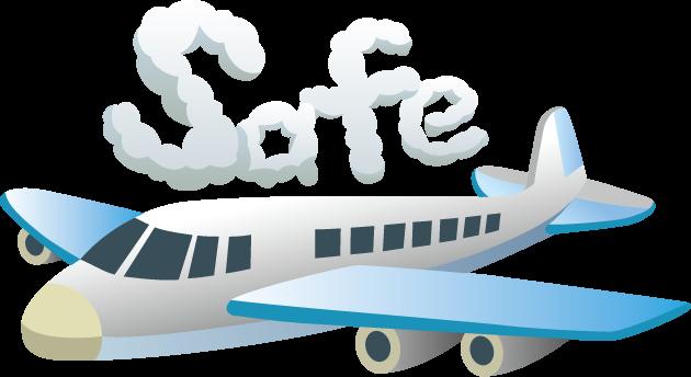 8月12日航空安全の日のイラスト-ジェット機