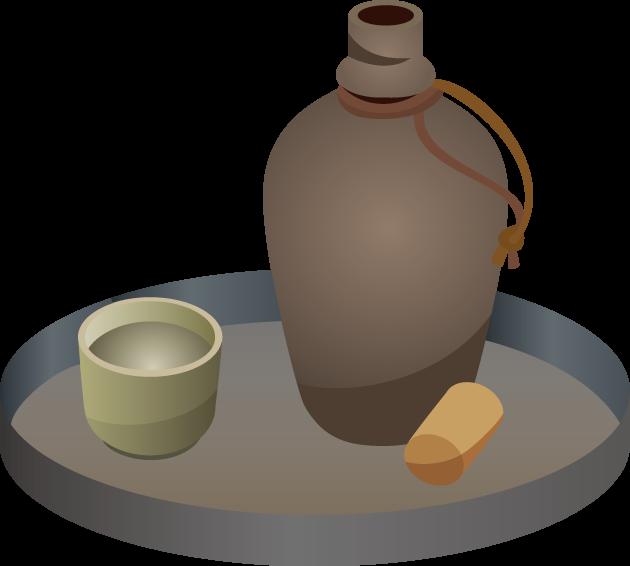 8月24日愛酒の日のイラスト-徳利と盃