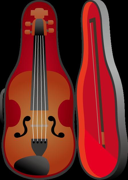 8月28日バイオリンの日のイラスト-バイオリンとバイオリンケース