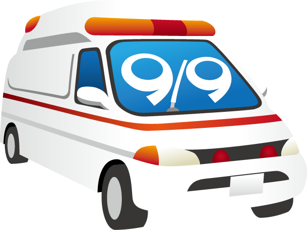 救急の日のイラスト-救急車