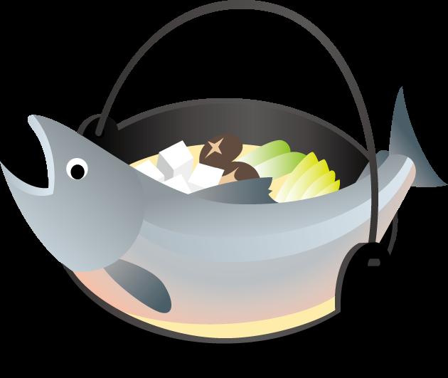 9月15日石狩鍋記念日のイラスト-鮭と鍋