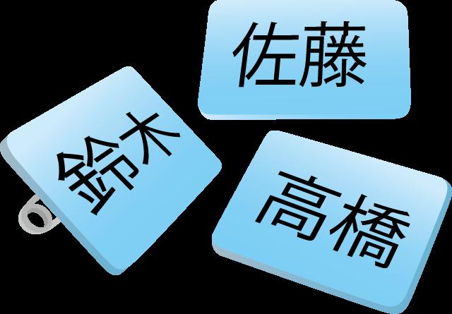 9月19日苗字の日のイラスト-名札