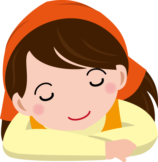 9月25日主婦休みの日のイラスト-うたた寝する主婦