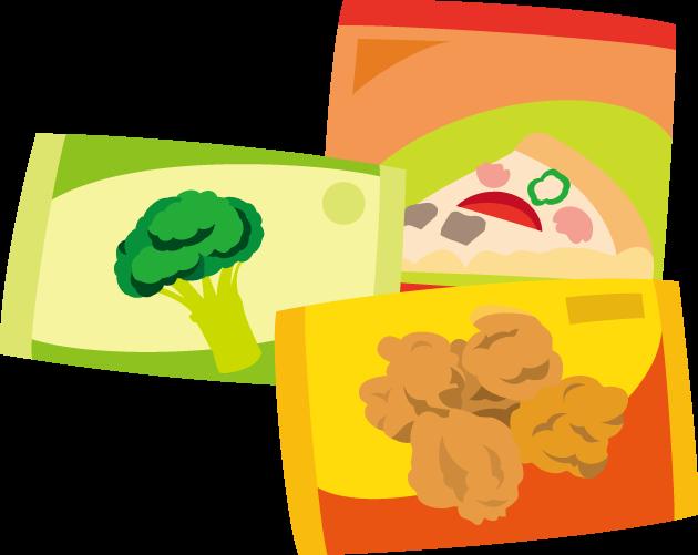 10月18日冷凍食品の日のイラスト-冷凍食品