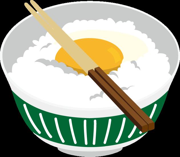 10月30日たまごかけご飯の日のイラスト-卵かけご飯
