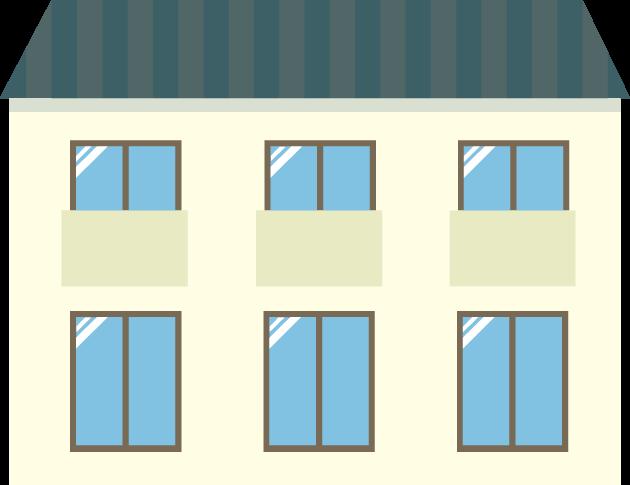 11月6日アパート記念日のイラスト-アパート