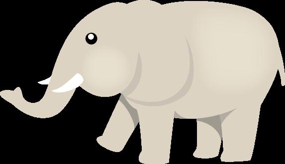 11月16日ぞうさんの日のイラスト-象