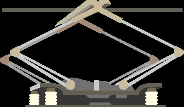 11月19日鉄道電化の日のイラスト-パンタグラフ