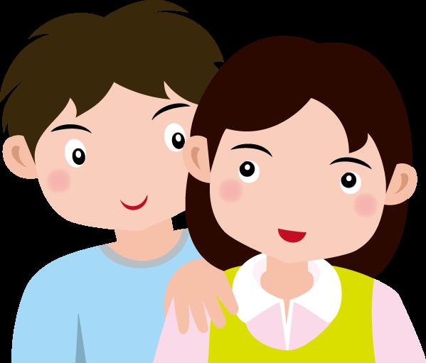 11月22日いい夫婦の日のイラスト-夫婦