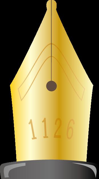 11月26日ペンの日のイラスト-万年筆のペン先