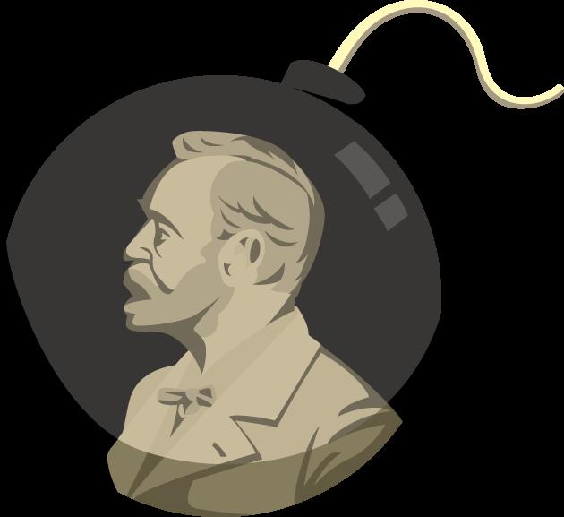 11月27日ノーベル賞制定記念日のイラスト-ダイナマイトとノーベル