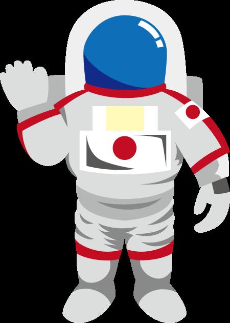 12月2日日本人宇宙飛行士記念日のイラスト-宇宙服