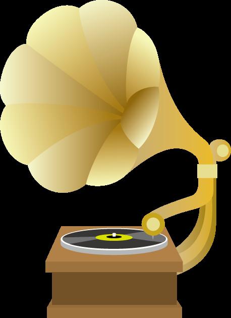 12月6日音の日のイラスト-蓄音機