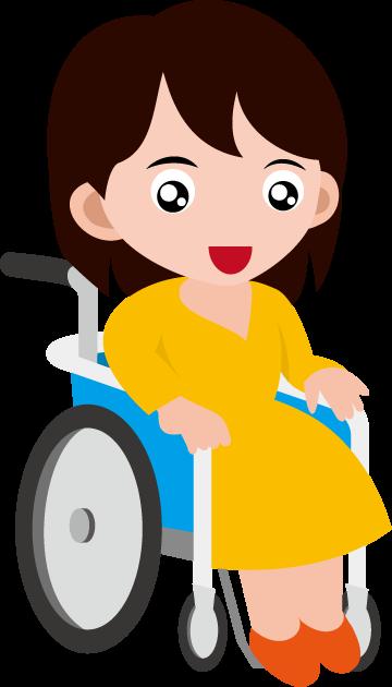 12月9日障害者の日のイラスト-車椅子の女性