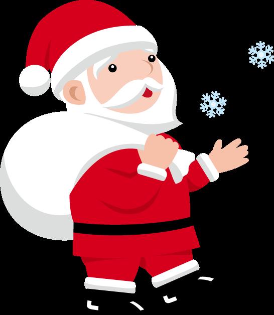 12月24日クリスマスイブのイラスト-サンタクロース